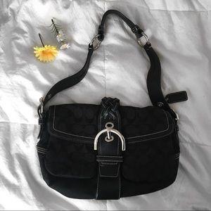 COACH Black Soho Signature C Shoulder Bag-6314